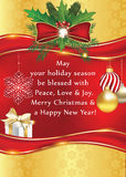 Tarjeta de felicitación caliente del Año Nuevo y de la Navidad Fotografía de archivo libre de regalías