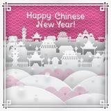 Tarjeta de felicitación china del Año Nuevo Imagen de archivo libre de regalías