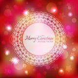Tarjeta de felicitación chispeante de la estrella de la Navidad libre illustration