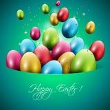 Tarjeta de felicitación colorida de Pascua Imagen de archivo libre de regalías