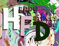 Tarjeta de felicitación colorida del día de padres Imágenes de archivo libres de regalías
