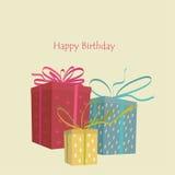Tarjeta de felicitación con cumpleaños Fotos de archivo