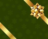 Tarjeta de felicitación con el arqueamiento del oro Imagen de archivo libre de regalías
