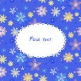 Tarjeta de felicitación con el bacgkround de flores Libre Illustration