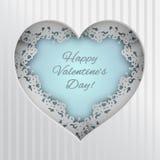 Tarjeta de felicitación con el corazón atado Imagen de archivo libre de regalías