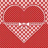 Tarjeta de felicitación con el corazón punteado Imagen de archivo libre de regalías