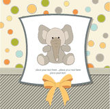 Tarjeta de felicitación con el elefante Imágenes de archivo libres de regalías