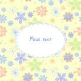 Tarjeta de felicitación con el fondo de flores Stock de ilustración