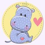 Tarjeta de felicitación con el hipopótamo lindo libre illustration