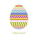 Tarjeta de felicitación con el huevo de Pascua Foto de archivo libre de regalías