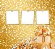 Tarjeta de felicitación con el marco en un fondo hermoso Fotos de archivo libres de regalías