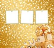 Tarjeta de felicitación con el marco en un fondo hermoso Foto de archivo libre de regalías