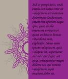 Tarjeta de felicitación con el ornamento Imagen de archivo