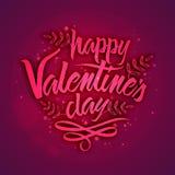 Tarjeta de felicitación con el texto para el día de tarjeta del día de San Valentín Fotos de archivo