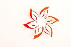 Tarjeta de felicitación con la flor de papel Foto de archivo
