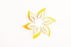 Tarjeta de felicitación con la flor de papel Fotos de archivo libres de regalías