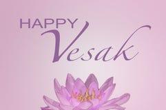 Tarjeta de felicitación con la flor de loto Imagen de archivo