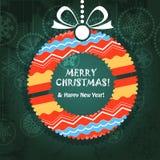 Tarjeta de felicitación con la guirnalda adornada Foto de archivo libre de regalías