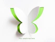 Tarjeta de felicitación con la mariposa de papel Imagen de archivo