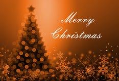 Tarjeta de felicitación con la Navidad Imagen de archivo libre de regalías