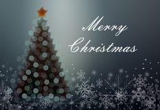 Tarjeta de felicitación con la Navidad stock de ilustración