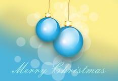 Tarjeta de felicitación con la Navidad Fotografía de archivo