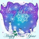 Tarjeta de felicitación con la Navidad Foto de archivo