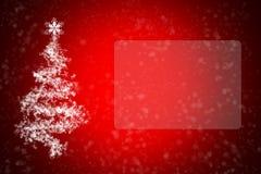 Tarjeta de felicitación con la Navidad y el Año Nuevo Fotos de archivo libres de regalías
