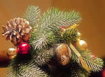 Tarjeta de felicitación con la Navidad y el Año Nuevo Fotos de archivo