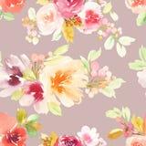 Tarjeta de felicitación con las flores Árbol congelado solo handmade watercolor Foto de archivo libre de regalías