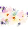 Tarjeta de felicitación con las flores Árbol congelado solo handmade watercolor Imagen de archivo libre de regalías