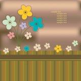 Tarjeta de felicitación con las flores Stock de ilustración