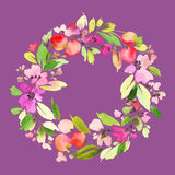 Tarjeta de felicitación con las flores Fotos de archivo libres de regalías