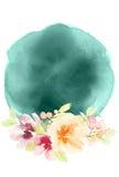 Tarjeta de felicitación con las flores Foto de archivo libre de regalías