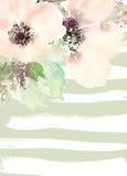 Tarjeta de felicitación con las flores Imagen de archivo libre de regalías