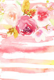 Tarjeta de felicitación con las flores Imagen de archivo