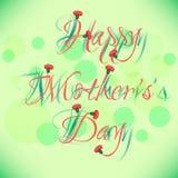 Tarjeta de felicitación con las flores el día de madre Imagen de archivo