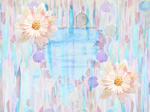 Tarjeta de felicitación con las flores handmade Pintura de la acuarela Imágenes de archivo libres de regalías