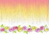 Tarjeta de felicitación con las rosas Fotografía de archivo libre de regalías