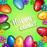 Tarjeta de felicitación con Pascua Fotos de archivo libres de regalías