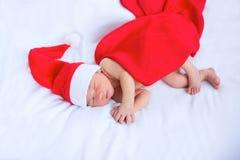 Tarjeta de felicitación con santa recién nacido Imagen de archivo libre de regalías