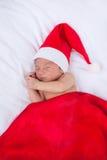Tarjeta de felicitación con santa recién nacido Imagen de archivo