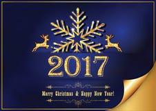 Tarjeta de felicitación corporativa del Año Nuevo para la impresión Imágenes de archivo libres de regalías
