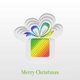 Tarjeta de felicitación creativa del regalo de la Navidad Fotos de archivo libres de regalías