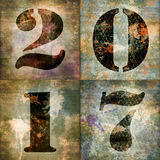 2017, tarjeta de felicitación cuadrada con números industriales Imagen de archivo