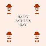Tarjeta de felicitación Día del `s del padre Ilustración del Vector