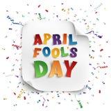 Tarjeta de felicitación de April Fools Day Fotografía de archivo libre de regalías