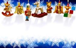 Tarjeta de felicitación de Art Christmas Foto de archivo libre de regalías