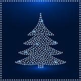 Tarjeta de felicitación de Diamond Christmas Tree Fotografía de archivo libre de regalías