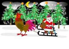 tarjeta de felicitación de feliz Navidad y de la Feliz Año Nuevo Concepto del invierno Tema 2017 de la celebración de Navidad ilustración del vector